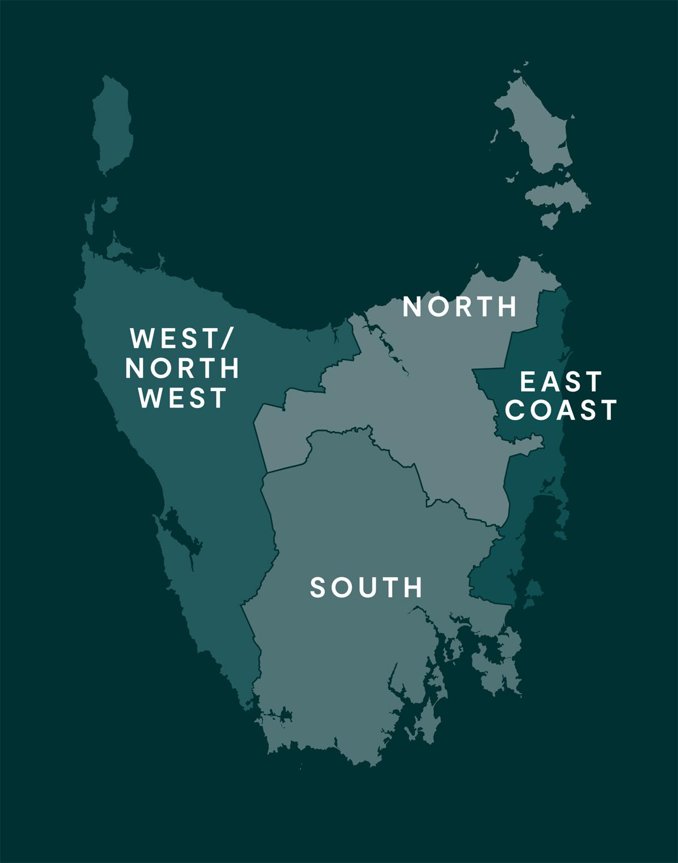 Tassie Map Regions